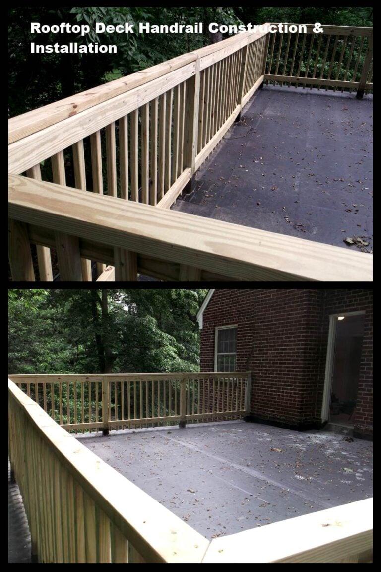 Handrail at rear deck