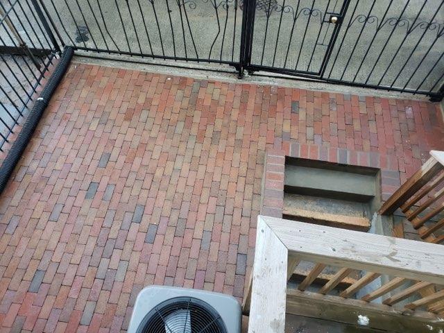 New masonry patio