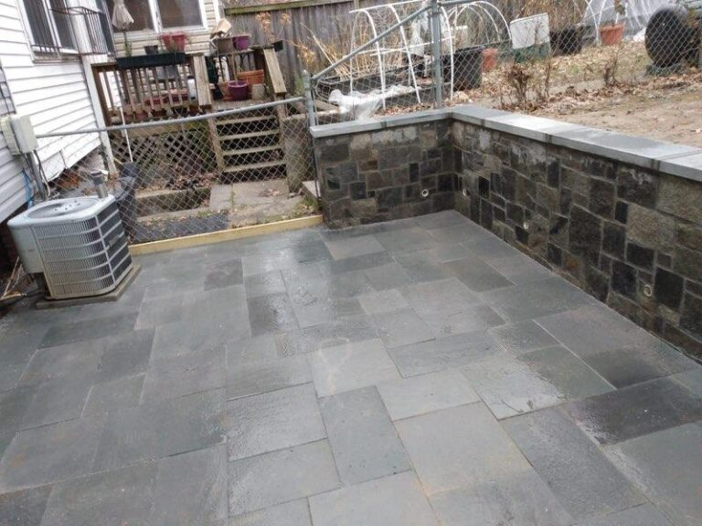 New paving and kneewall