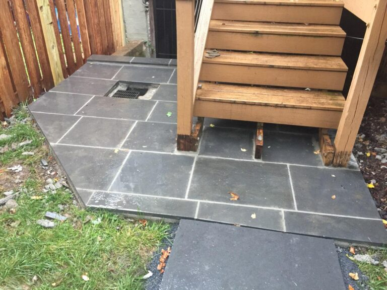 New stone paving at patio