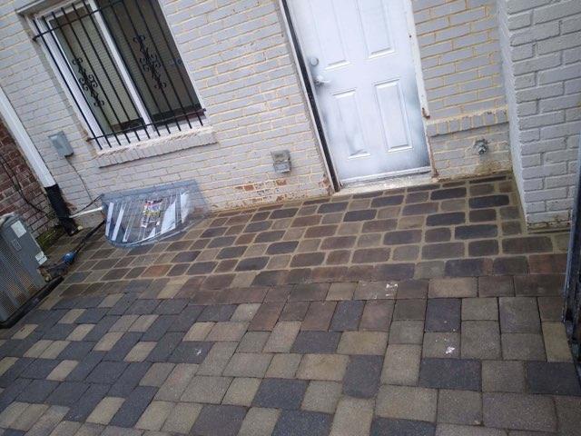 Stone patio rebuild